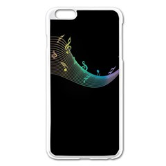 Musical Wave Apple Iphone 6 Plus Enamel White Case