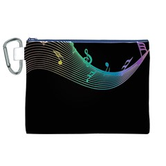 Musical Wave Canvas Cosmetic Bag (XL)