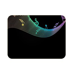 Musical Wave Double Sided Flano Blanket (mini)
