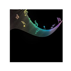 Musical Wave Small Satin Scarf (square)