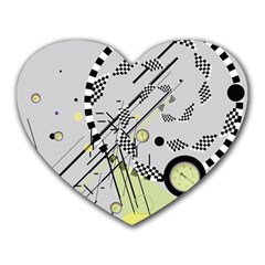 Abstract Geo Mouse Pad (heart)