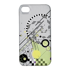 Abstract Geo Apple Iphone 4/4s Hardshell Case With Stand