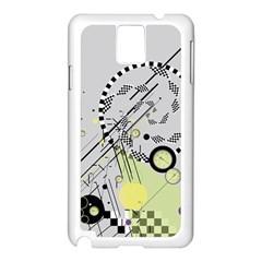 Abstract Geo Samsung Galaxy Note 3 N9005 Case (white)