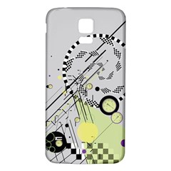 Abstract Geo Samsung Galaxy S5 Back Case (White)