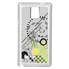 Abstract Geo Samsung Galaxy Note 4 Case (white)