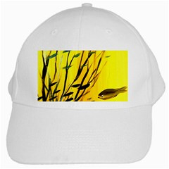 Yellow Dream White Baseball Cap