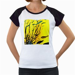 Yellow Dream Women s Cap Sleeve T-Shirt (White)