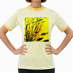 Yellow Dream Women s Ringer T Shirt (colored)