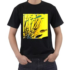 Yellow Dream Men s Two Sided T Shirt (black)