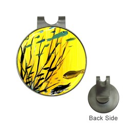 Yellow Dream Hat Clip With Golf Ball Marker