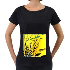 Yellow Dream Women s Loose-Fit T-Shirt (Black)
