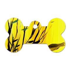 Yellow Dream Dog Tag Bone (one Sided)