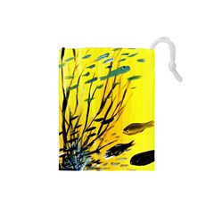 Yellow Dream Drawstring Pouch (Small)