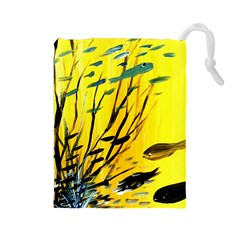 Yellow Dream Drawstring Pouch (Large)