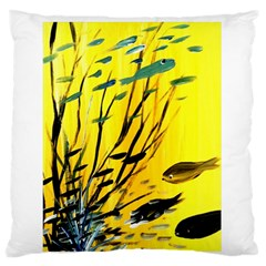 Yellow Dream Large Flano Cushion Case (One Side)