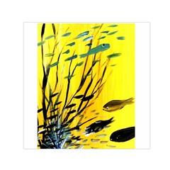 Yellow Dream Small Satin Scarf (Square)