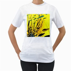 Yellow Dream Women s Two Sided T Shirt (white)