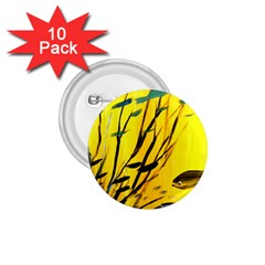 Yellow Dream 1 75  Button (10 Pack)