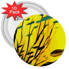 Yellow Dream 3  Button (10 Pack)