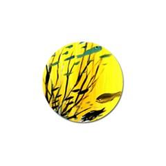 Yellow Dream Golf Ball Marker