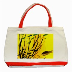 Yellow Dream Classic Tote Bag (red)