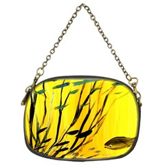 Yellow Dream Chain Purse (two Sided)