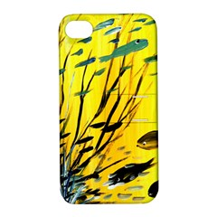 Yellow Dream Apple Iphone 4/4s Hardshell Case With Stand