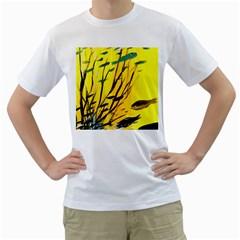 Yellow Dream Men s T Shirt (white)