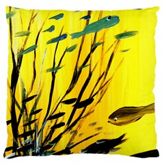 Yellow Dream Large Flano Cushion Case (Two Sides)