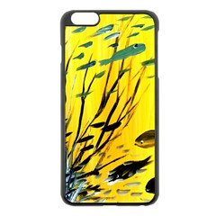 Yellow Dream Apple iPhone 6 Plus Black Enamel Case