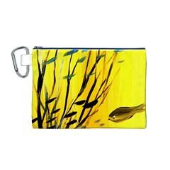 Yellow Dream Canvas Cosmetic Bag (Medium)