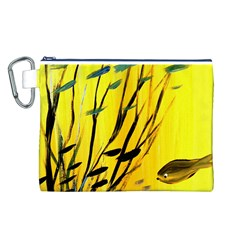 Yellow Dream Canvas Cosmetic Bag (large)