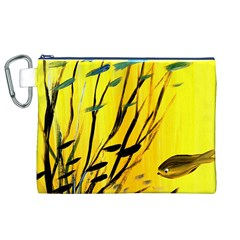 Yellow Dream Canvas Cosmetic Bag (XL)