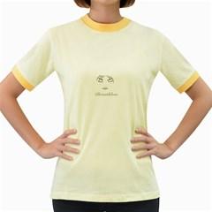 Breathless Women s Ringer T Shirt (colored)