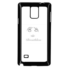 Breathless Samsung Galaxy Note 4 Case (Black)