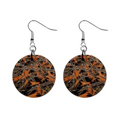 Intricate Abstract Print Mini Button Earrings