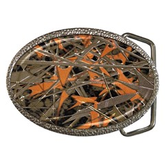 Intricate Abstract Print Belt Buckle (oval)