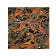 Intricate Abstract Print Small Satin Scarf (square)