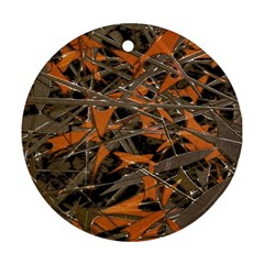 Intricate Abstract Print Round Ornament