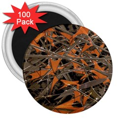 Intricate Abstract Print 3  Button Magnet (100 Pack)