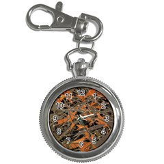 Intricate Abstract Print Key Chain Watch