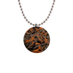 Intricate Abstract Print Button Necklace