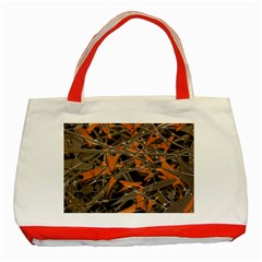 Intricate Abstract Print Classic Tote Bag (red)