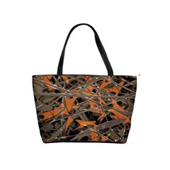 Intricate Abstract Print Large Shoulder Bag