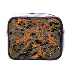 Intricate Abstract Print Mini Travel Toiletry Bag (one Side)