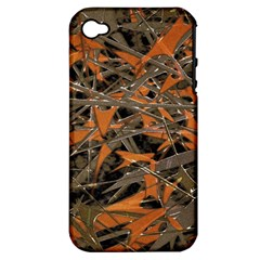 Intricate Abstract Print Apple Iphone 4/4s Hardshell Case (pc+silicone)