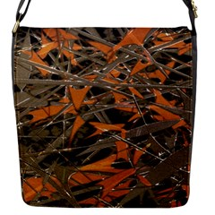 Intricate Abstract Print Flap Closure Messenger Bag (small)