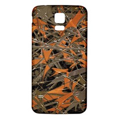 Intricate Abstract Print Samsung Galaxy S5 Back Case (White)