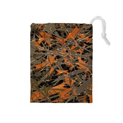 Intricate Abstract Print Drawstring Pouch (Medium)