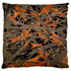 Intricate Abstract Print Large Flano Cushion Case (two Sides)